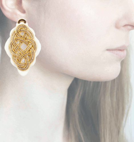 Profile, Anna e Alex, Regina Bianca Collection, Oro-Corda, Large, ORRBL2