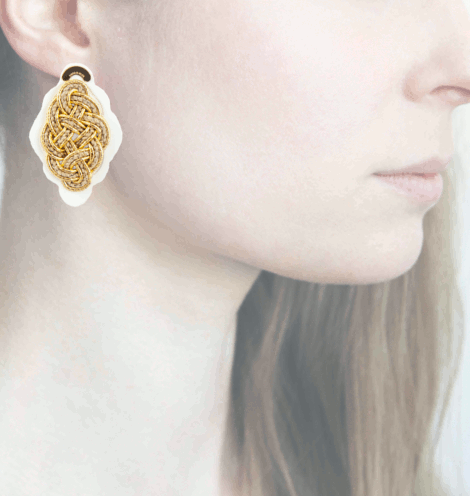 Profile, Anna e Alex, Regina Bianca Collection, Oro-Corda, Small, ORRBS2