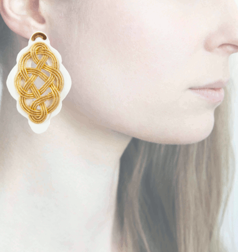 Profile, Anna e Alex, Regina Bianca Collection, Oro, Large, ORRBL1