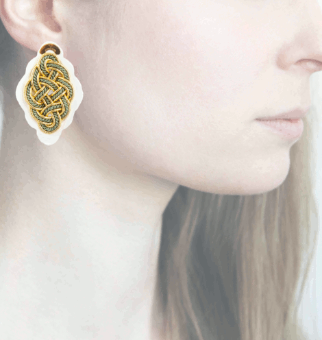 Profile, Anna e Alex, Regina Bianca Collection, Verde, Small, ORRBS6