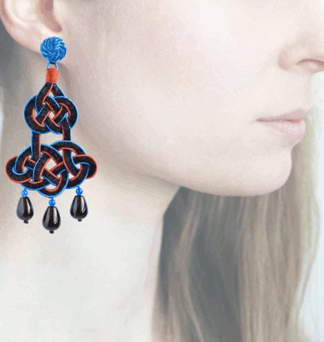 Profile chandelier, blu-marrone