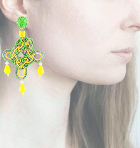 Profile rombo, giallo-verde