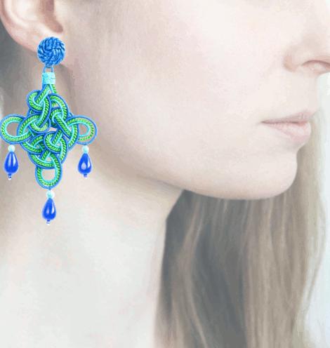 Profile rombo, turchese-verde-blu
