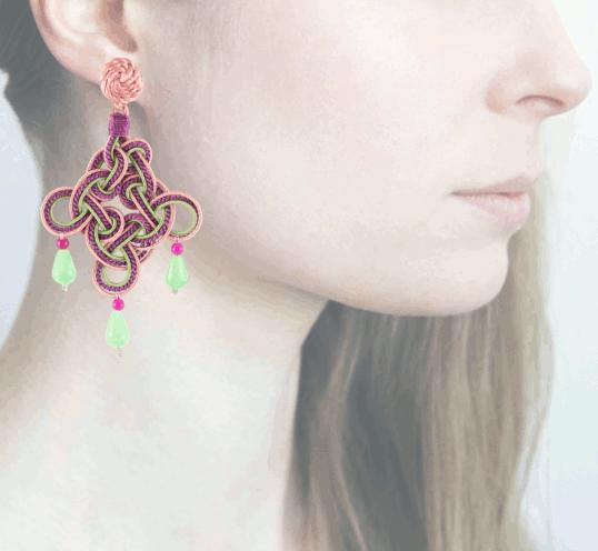 Profile rombo, viola-verde-rosa