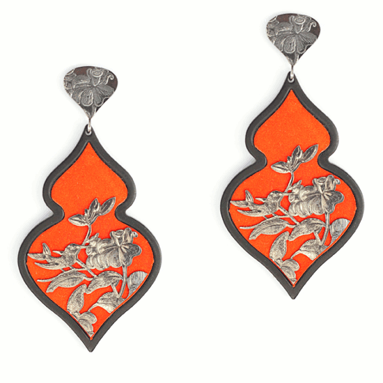 Giardino earrings orange anna e alex - Arte e giardino ...