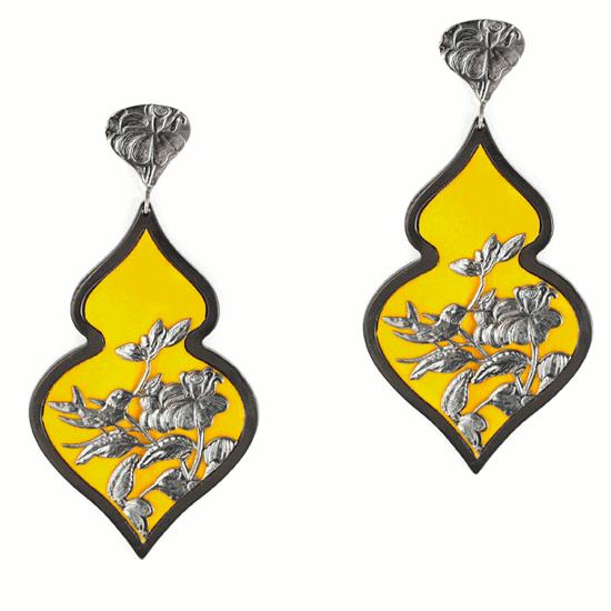 Anna e Alex, arte miniatura, resina e argento, giallo-argento brunito, ORBIRD13
