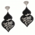 Giardino Earrings – Black