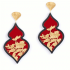 Giardino Earrings – Red