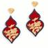 Orecchini Giardino – Rosso