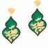 Giardino Earrings – Emerald green