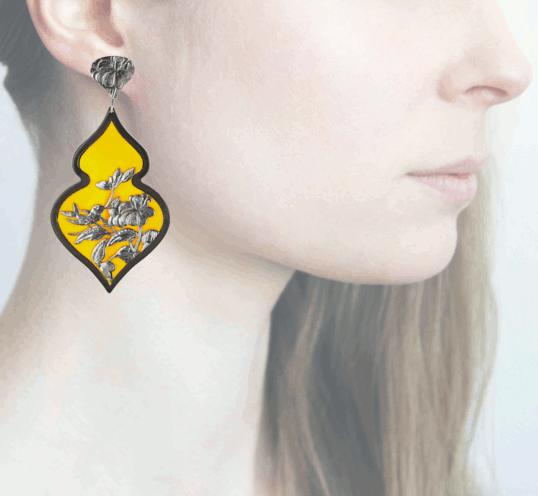Profile Anna e Alex, arte miniatura, resina e argento, ORBIRD13