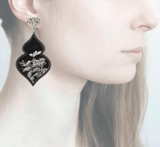 Profile Anna e Alex, arte miniatura, resina e argento, ORBIRD16