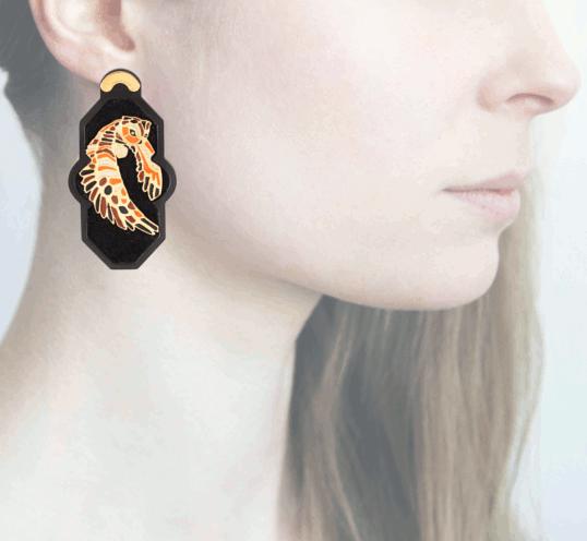 Profile, Anna e Alex, arte miniature, resina, smalto, ORBRA5