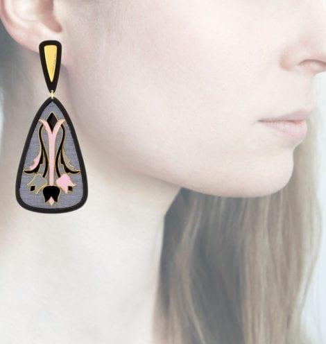 Profile Anna e Alex, arte, miniature, resina, smalto, grigio-rosa, ORTUL7
