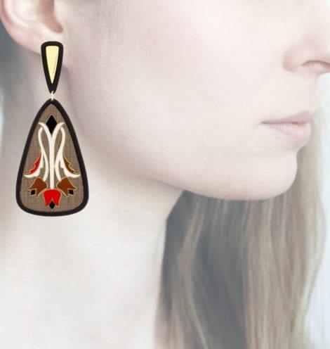 Profile Anna e Alex, arte, miniature, resina, smalto, marrone-rosso, ORTUL5