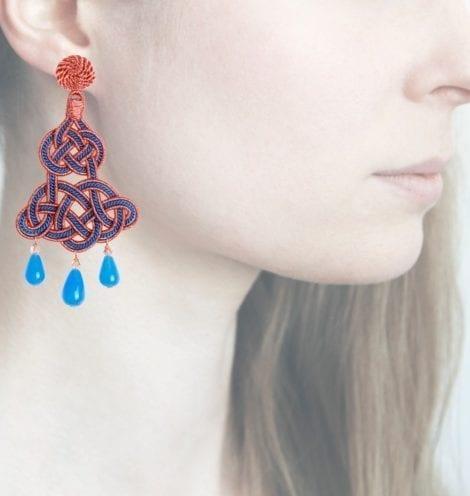 Profile, Anna e Alex, passamaneria, chandelier lamè rosa, blu, OCHR6