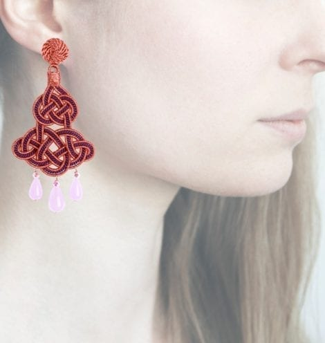 Profile, Anna e Alex, passamaneria, chandelier lamè rosa, viola, OCHR4