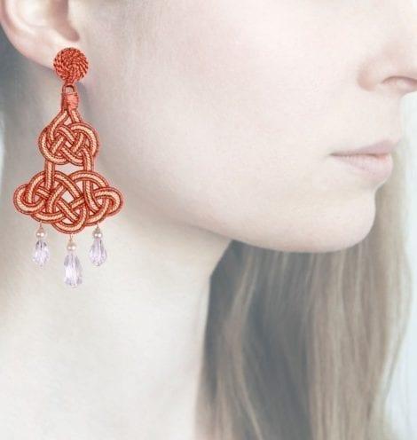 Profile, Anna e Alex, passamaneria, chandelier lamè rosa, gardenia, OCHR3