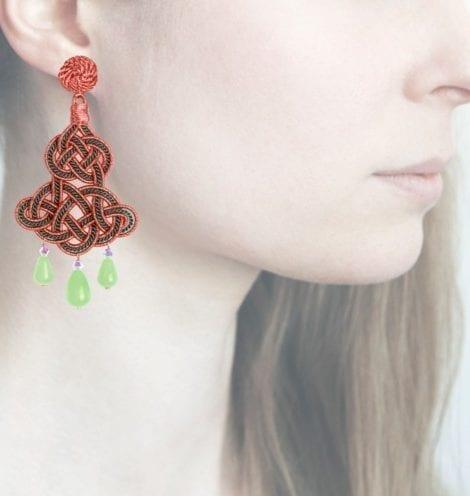 Profile, Anna e Alex, passamaneria, chandelier lamè rosa, verde, OCHR5