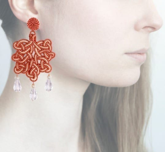 Profile, Anna e Alex, passamaneria, foglia lamè rosa, gardenia, OFGR3