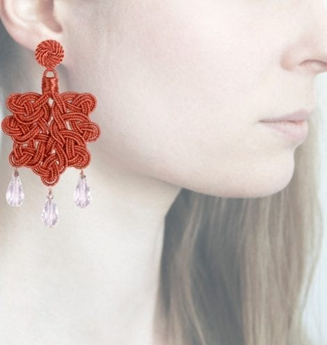 Profile, Anna e Alex, passamaneria, foglia lamè rosa, rosa, OFGR1