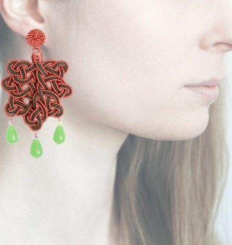 Profile, Anna e Alex, passamaneria, foglia lamè rosa, verde, OFGR5