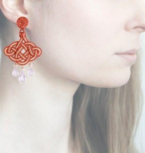 Profile, Anna e Alex, passamaneria, lanterna lamè rosa, gardenia, OLR3