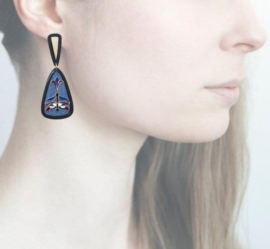 Profile Anna e Alex, arte, miniature, resina, smalto, blu, ORLIB4