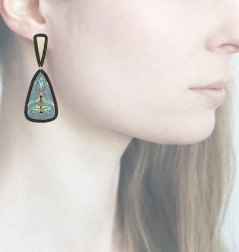 Profile Anna e Alex, arte, miniature, resina, smalto, verde acqua, ORLIB9