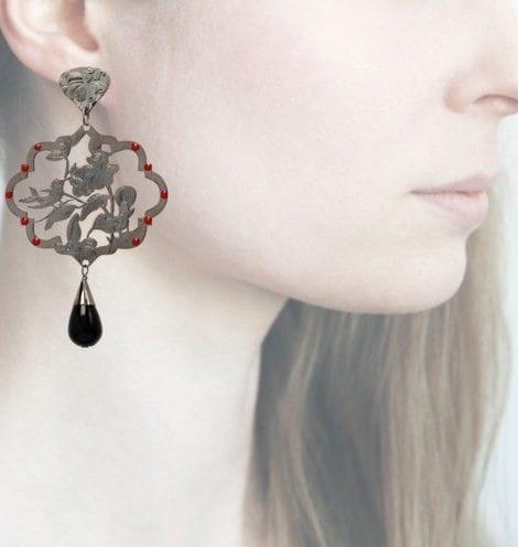 Profile Anna e Alex, arte miniatura, argento e smalto, ORGP8