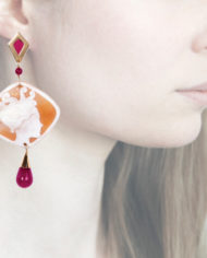 Profile, Anna e Alex, Enamel collection, cammeo, polipo, fucsia, OCAMSM4