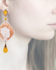 Profile, Anna e Alex, Enamel collection, cammeo, stella marina, giallo, OCAMSM2
