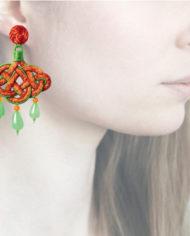 Profile, Anna e Alex, passamaneria, lanterna, arancione-verde, OLCIN10