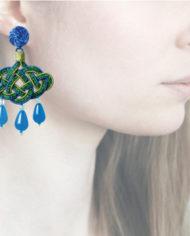 Profile, Anna e Alex, passamaneria, lanterna, blu-verde, OLCIN19